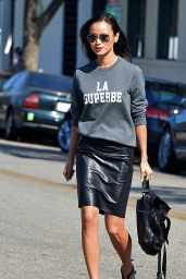 Jamie Chung Leggy - Out in Hollywood - October 2014