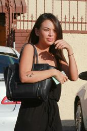 Janel Parrish at DWTS Rehearsal in Hollywood – October 2014