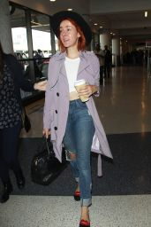 Jena Malone Arriving at LAX Airport in Los Angeles - October 2014
