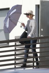 Jennifer Lawrence in Jeans - Leaving an Office Building in Los Angeles, October 2014