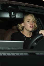 Jennifer Lawrence in Mini Dress - Leaving Ago Restaurant in Los Angeles
