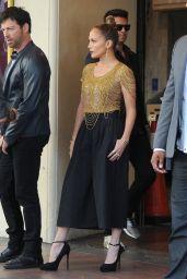 Jennifer Lopez Arriving on the Set of