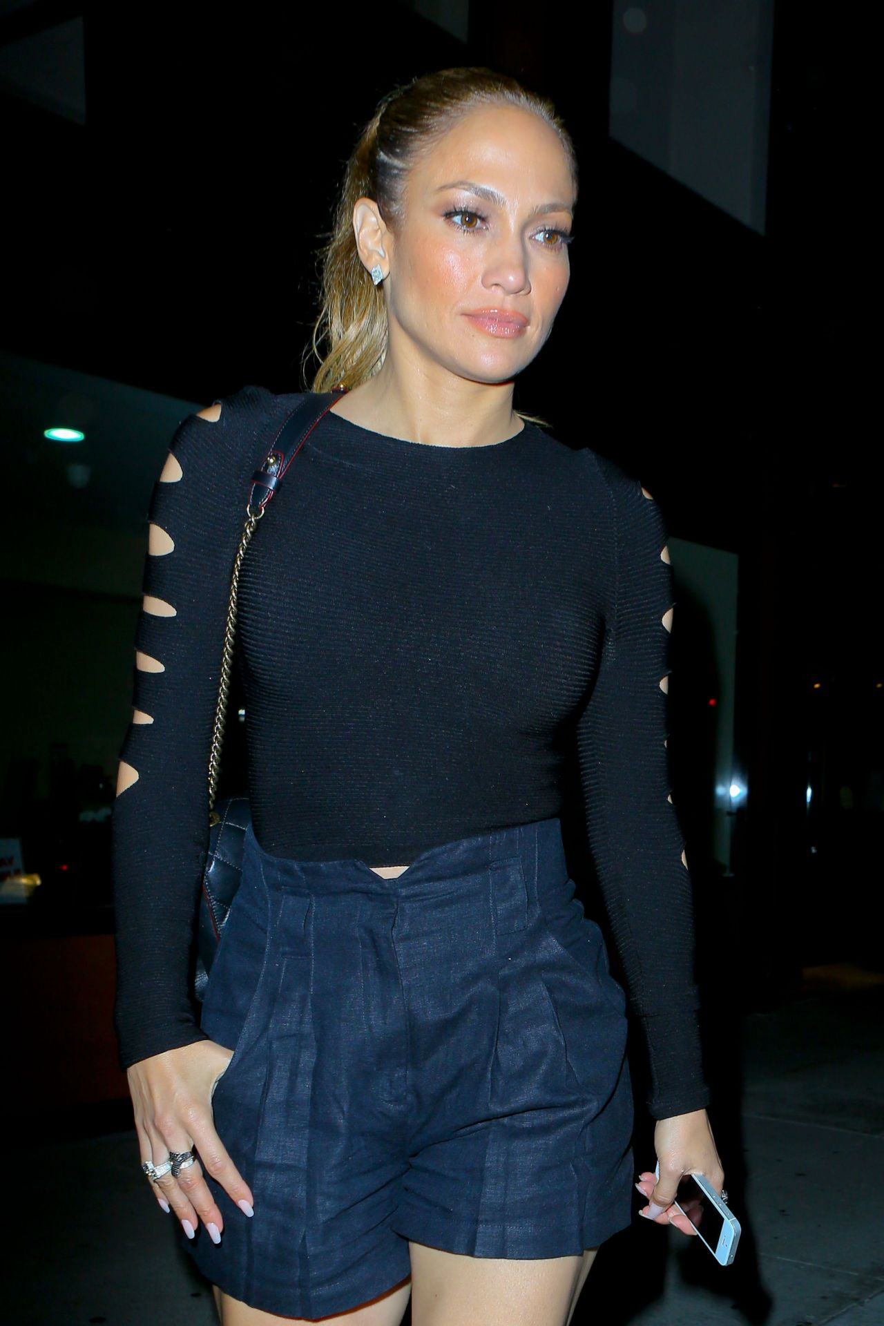 Jennifer Lopez at Crustacean in Beverly Hills - October 2014