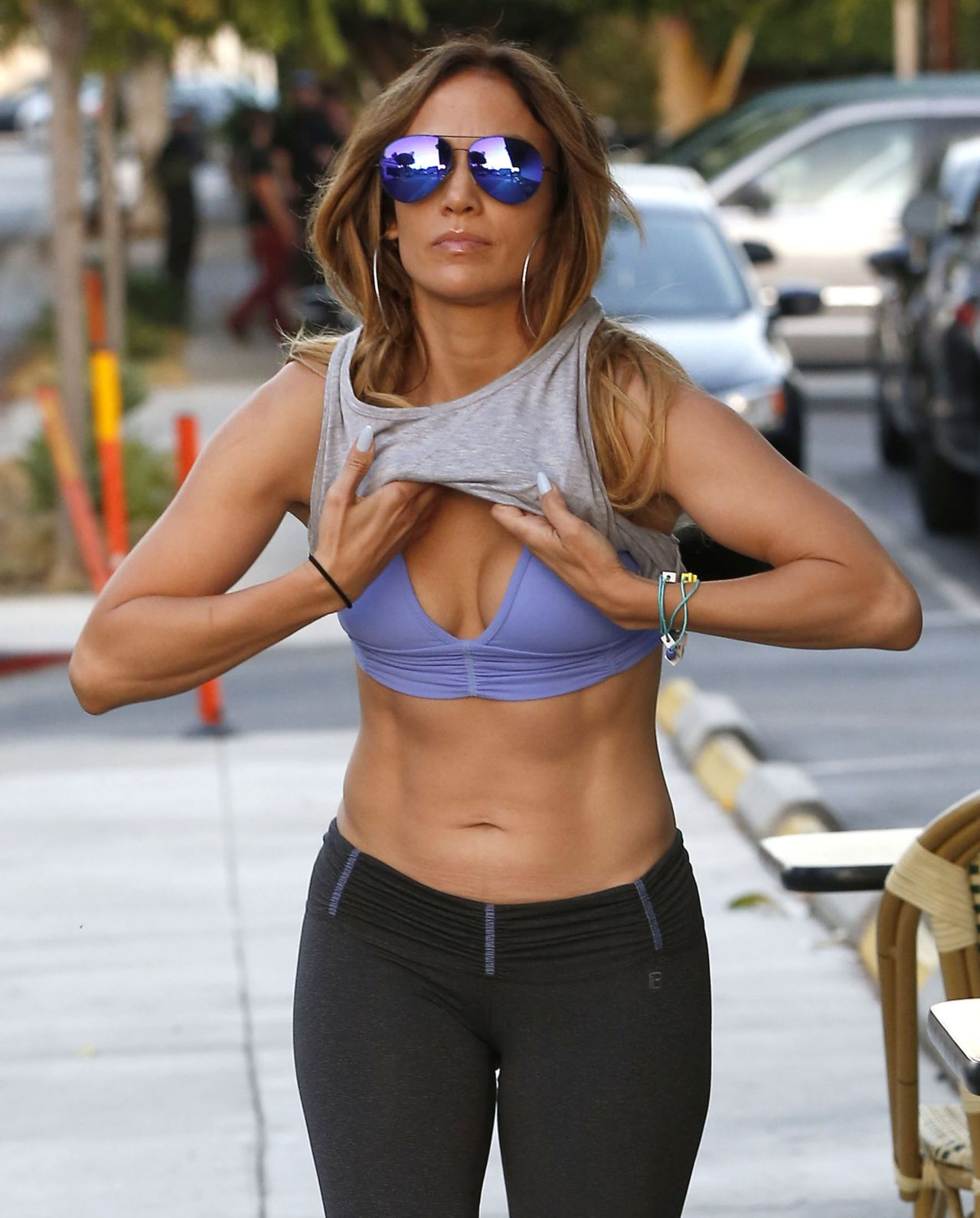 Jennifer Lopez in Gym Clothes – Leaving the Gym in West Hollywood ...