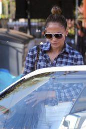 Jennifer Lopez in Jeans - Mr. Bones Pumpkin Patch in West Hollywood, Oct. 2014