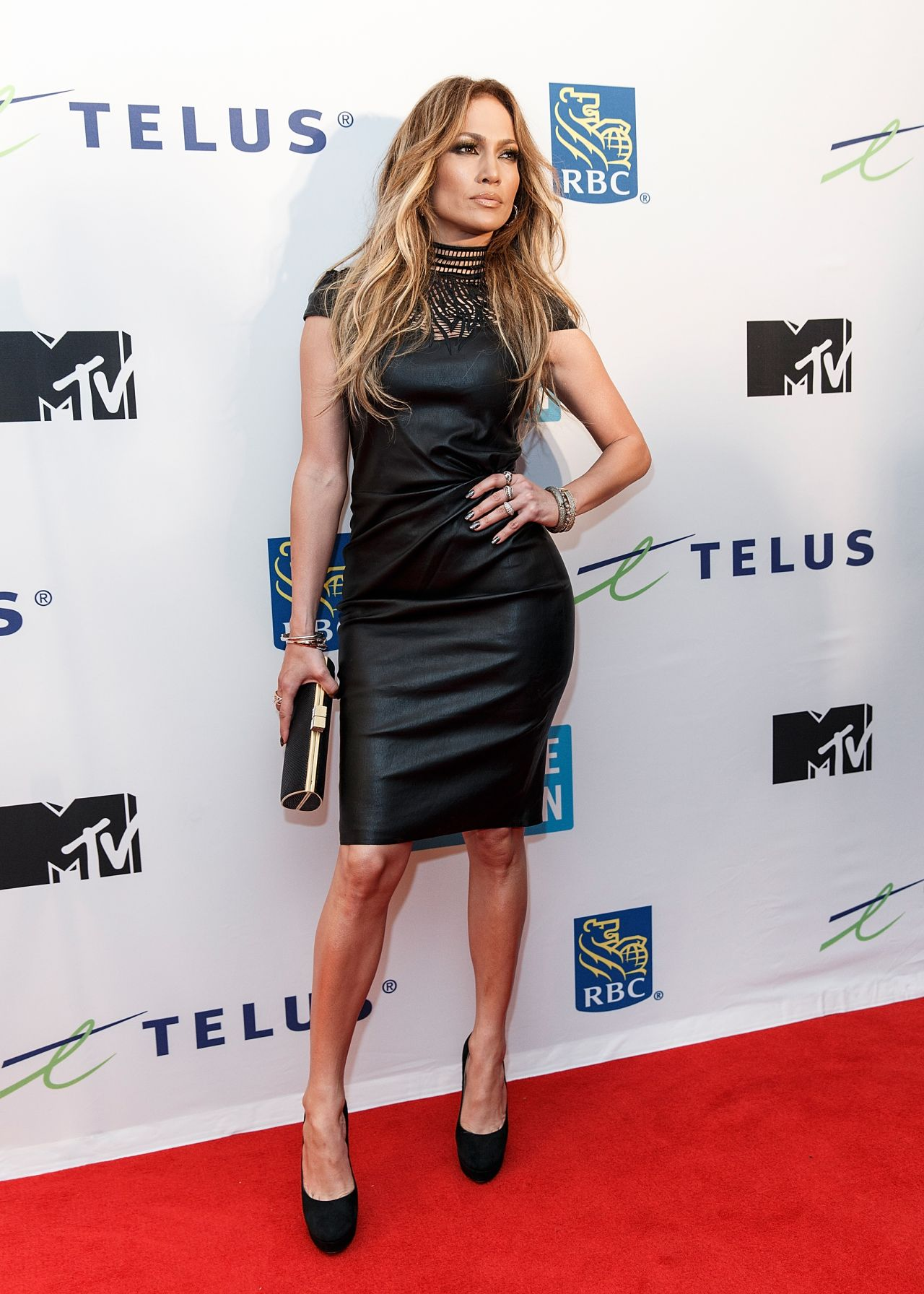 Jennifer Lopez In Leather Dress At We Day Event In Vancouver