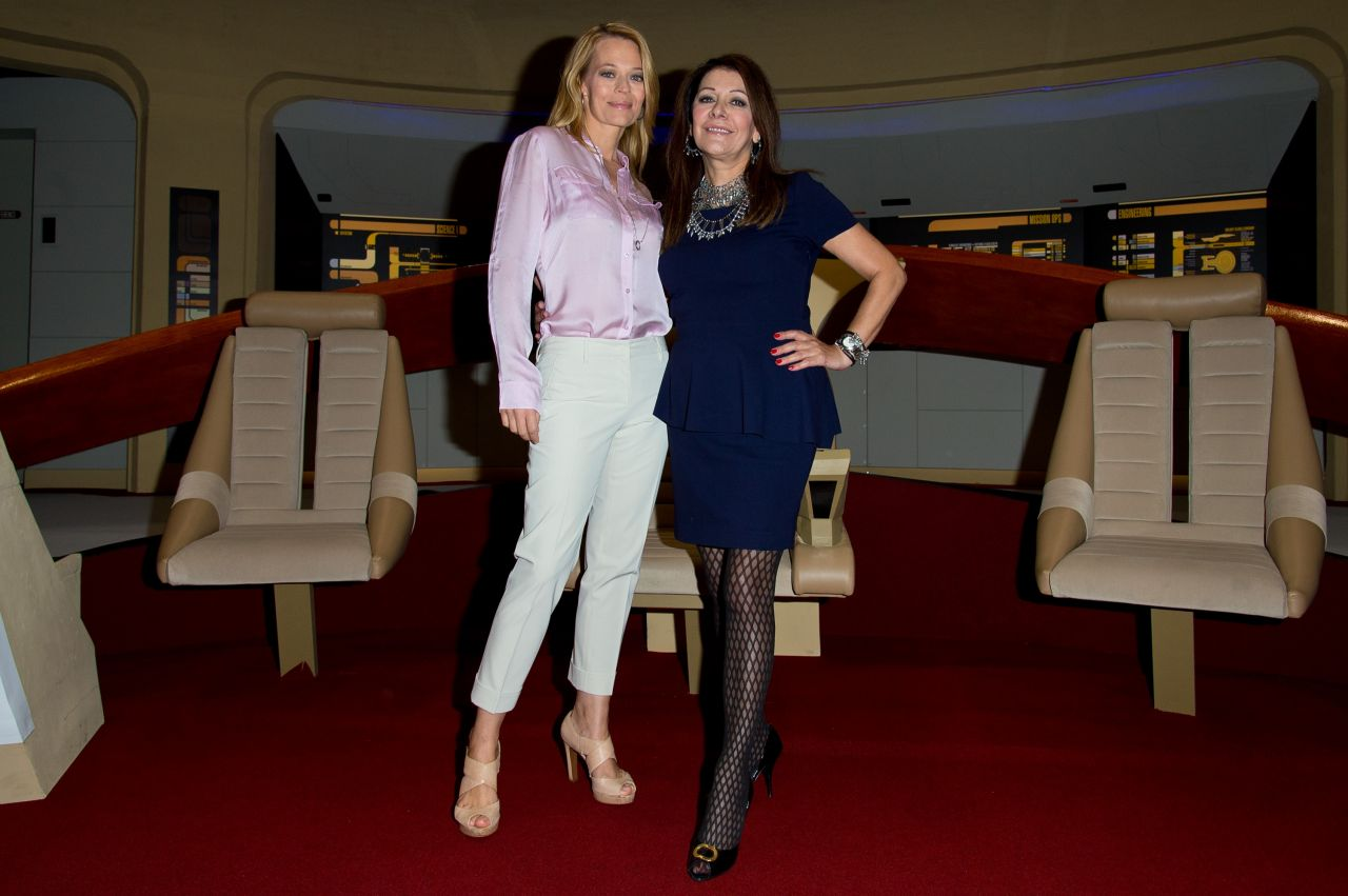 Jeri Ryana and Marina Sirtis - Destination Star Trek Event at ExCel in London, Oct. 2014