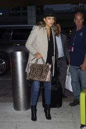 Jessica Alba at JFK Airport in New York City - October 2014