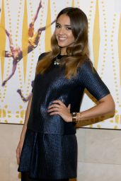 Jessica Alba at the Nasher Sculpture Center in Dallas - October 2014