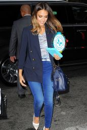 Jessica Alba in New York City - Arriving Back at the Hotel - Sept. 2014