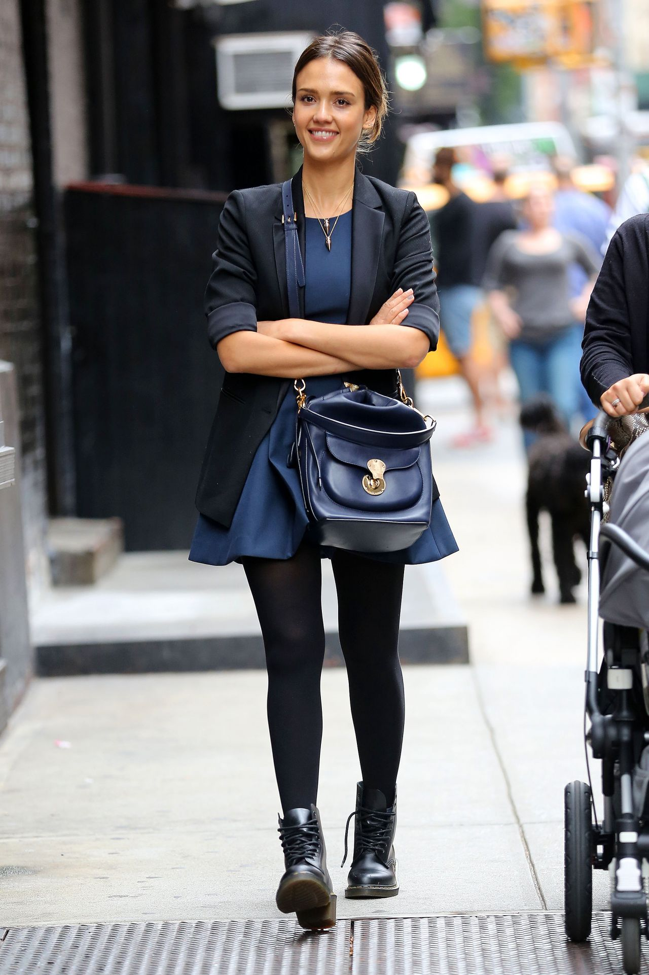 Jessica Alba Street Style 2014 Out In New York City September