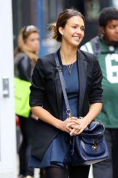Jessica Alba Street Style 2014 - Out in New York City (September)