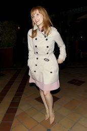 Jessica Chastain Style - Arriving at Sunset 5 Cinemas in West Hollywood - October 2014