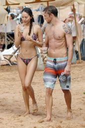 Jessica Michibata Bikini Candids - Hawaii, October 2014