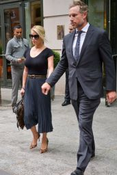 Jessica Simpson and Her Husband - Leaving Her Hotel in New York City - Oct. 2014
