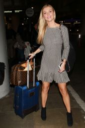 Joanna Krupa in Mini Dress at LAX Airport in Los Angeles - October 2014