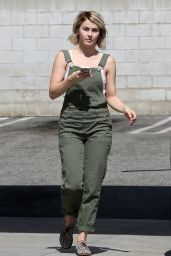 Julianne Hough Street Style - Getting Gas in Beverly Hills, October 2014