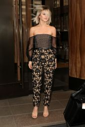 Julianne Hough Style - Leaving the Trump Soho Hotel in New York City - October 2014