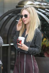 Juno Temple Leggy - Arriving at Her Hotel in New York City - Oct. 2014