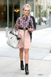 Juno Temple Style - Out in Soho, New York City - Oct. 2014