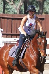 Kaley Cuoco - Riding Her Horse in Los Angeles, October 2014