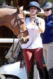 Kaley Cuoco - Riding Her Horse in Moorpark - October 2014
