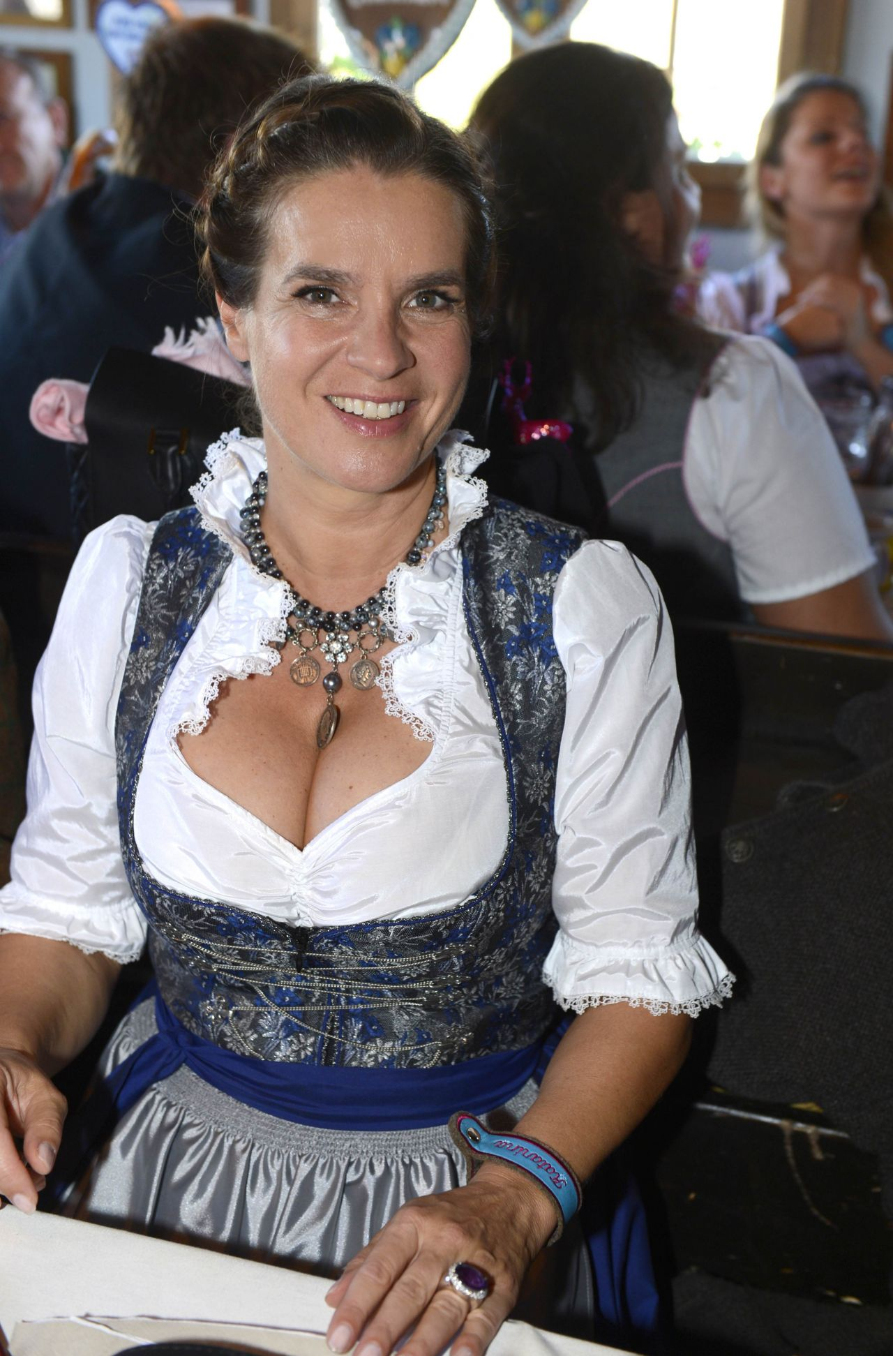 katarina witt oktoberfest in munich september 2014. Black Bedroom Furniture Sets. Home Design Ideas