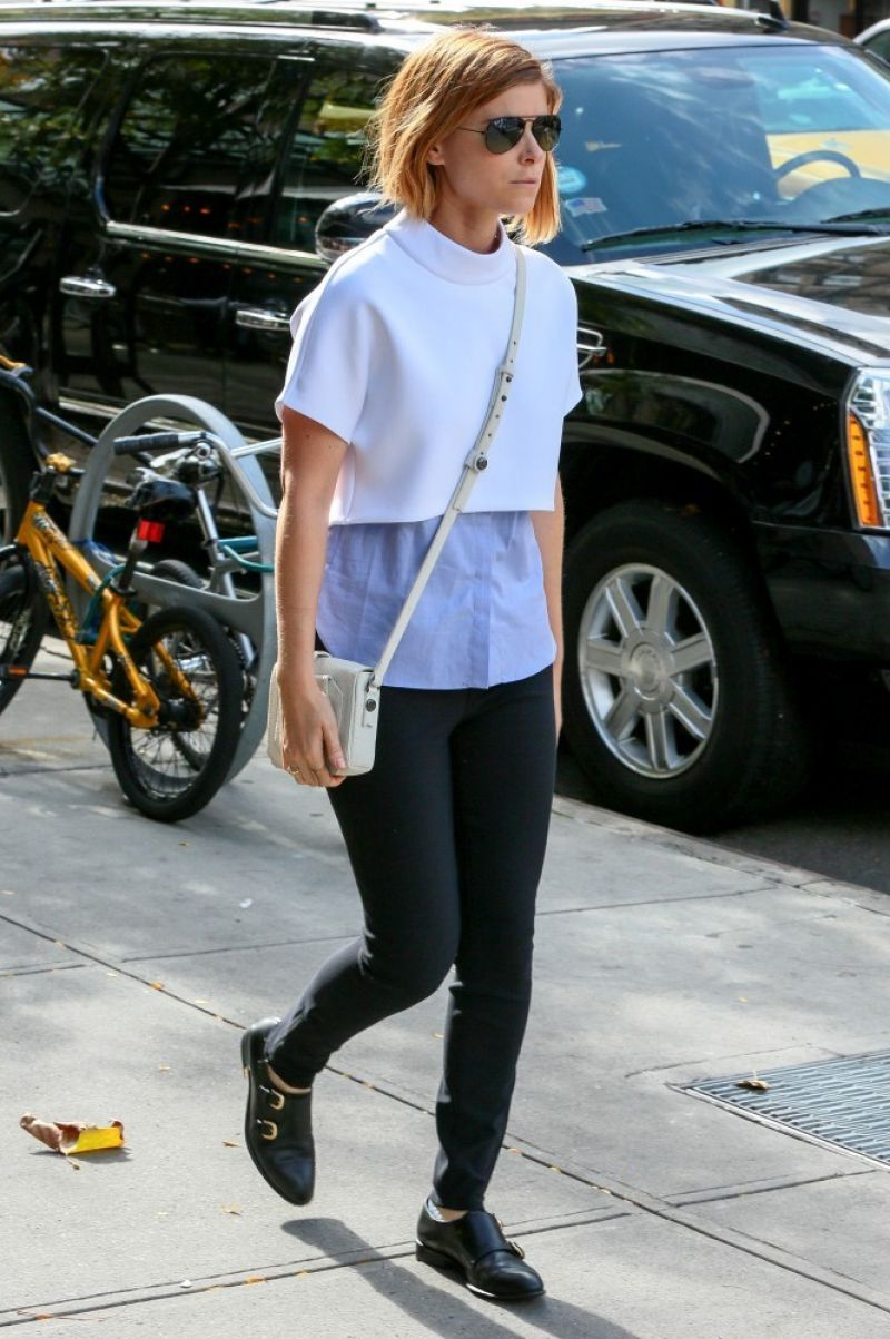 Kate Mara Street Style - Out in New York City, October 2014