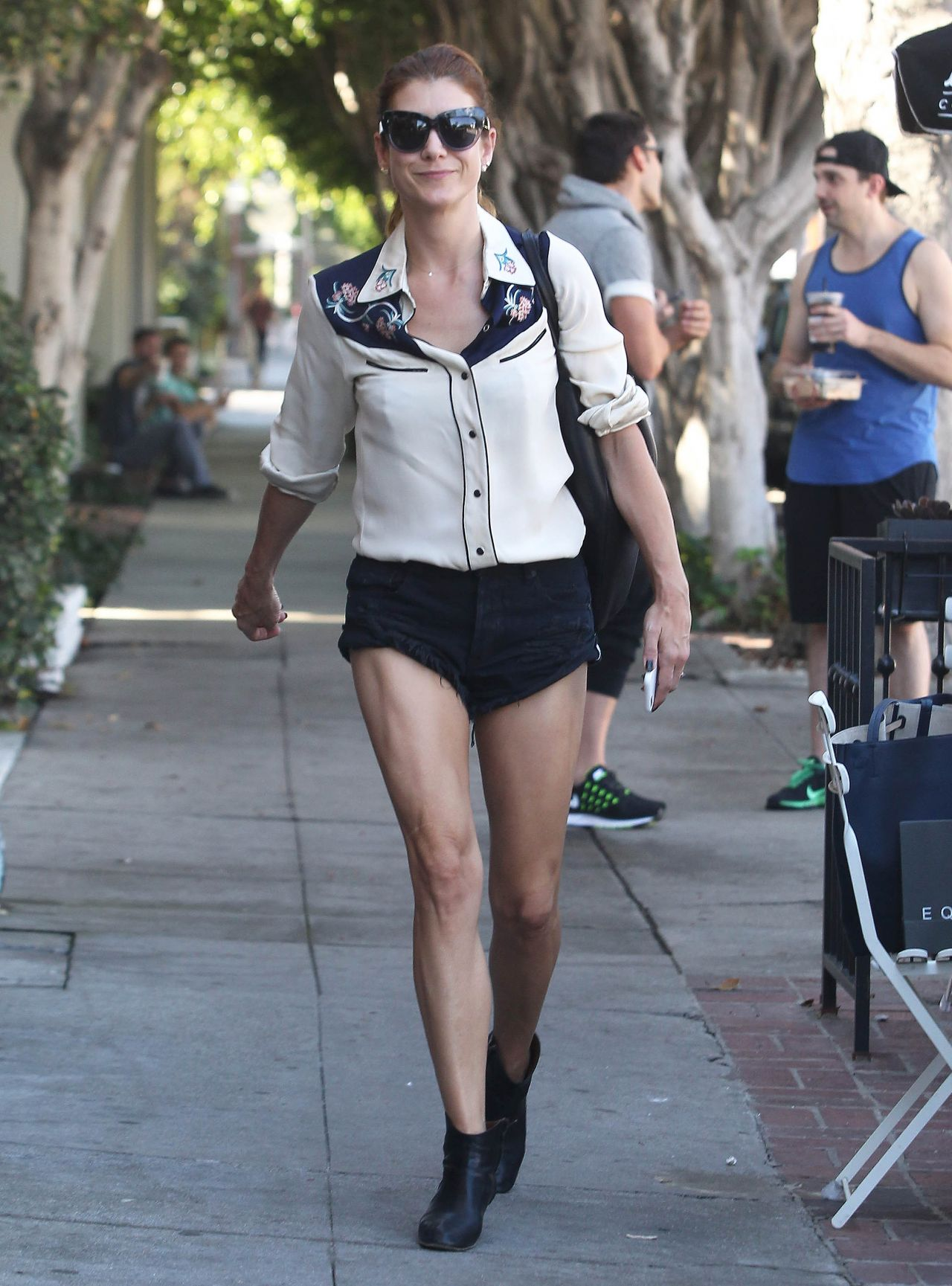 Kate Walsh Wearing Shorts - Out in West Hollywood - October 2014