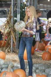 Katherine McNamara at a Pumpkin Patch in Los Angeles, October 2014
