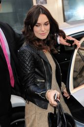 Keira Knightley Casual Style - at BBC Radio 2 in London, October 2014