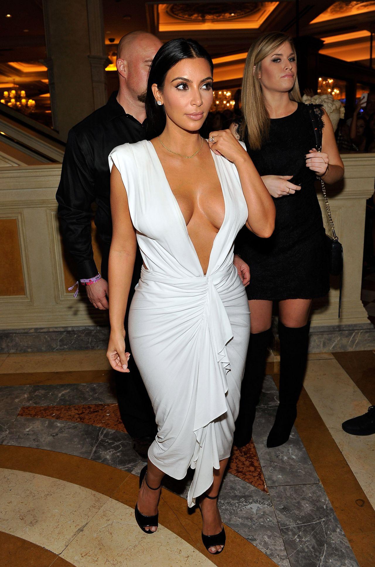 Kim Kardashian at Her Birthday Party at Tao Nightclub in