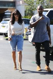 Kim Kardashian Booty in Denim - Leaving a Movie Theater in Calabasas - October 2014