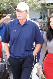 Kim Kardashian & Bruce Jenner - Filming at Little Next Door in West Hollywood - October 2014