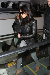 Kim Kardashian in Jeans at LAX Airport, October 2014