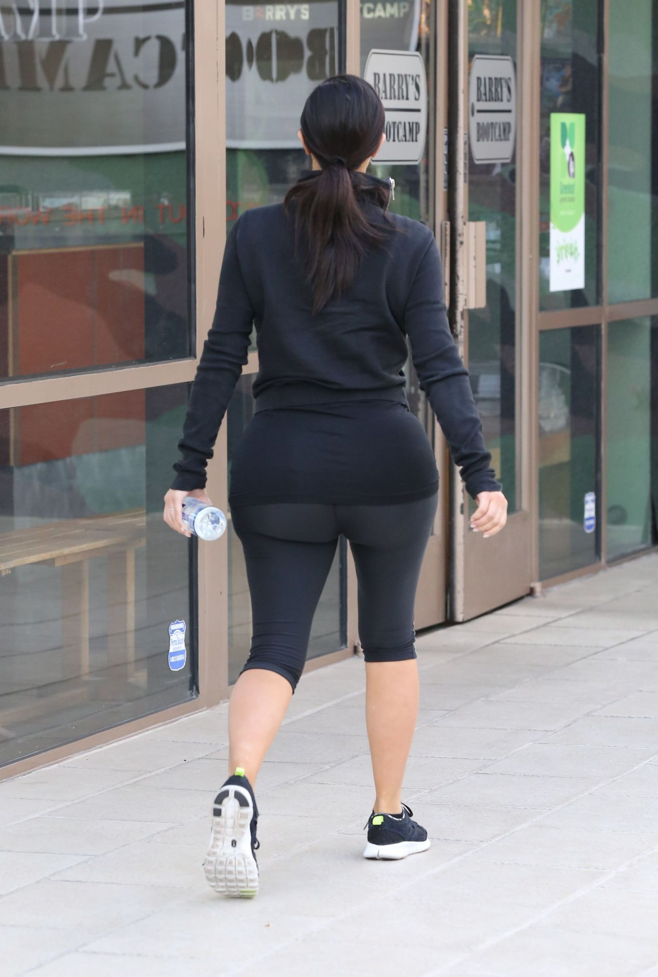Kim Kardashian In Leggings At A Gym In Los Angeles