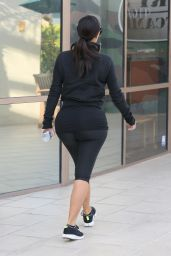 Kim Kardashian in Leggings - at a Gym in Los Angeles - October 2014