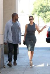 Kim Kardashian Style - Out Shopping in Los Angeles, October 2014