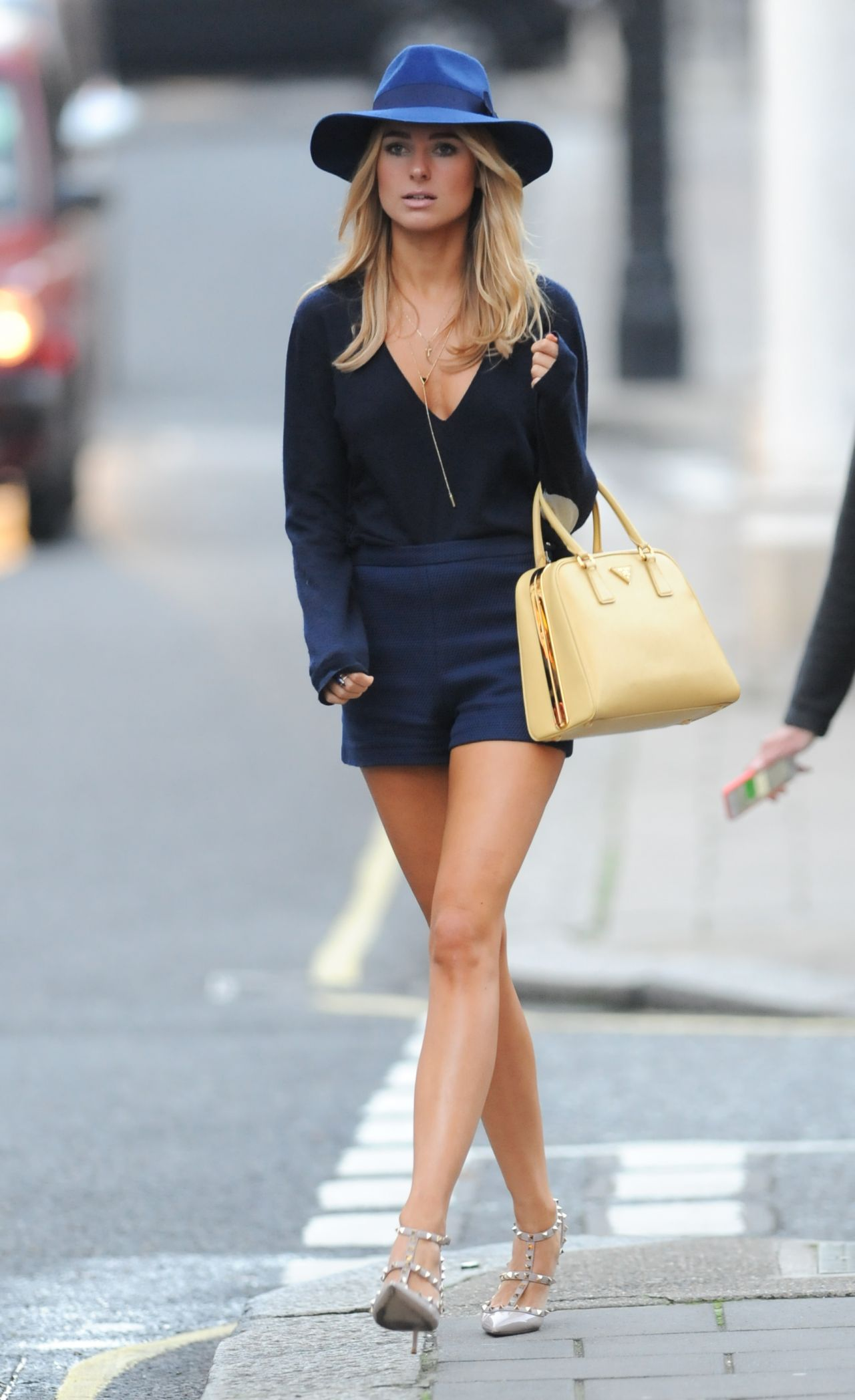 Kimberley Garner Leggy - Out in Mayfair in London - October 2014