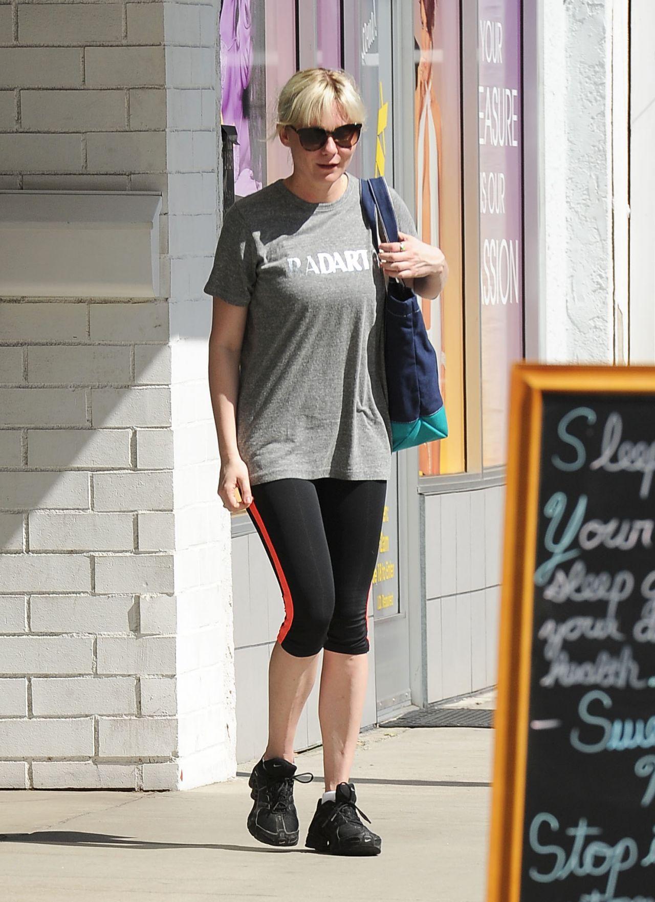 Kirsten Dunst in Leggings - Out in Los Angeles - October 2014