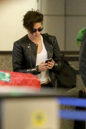 Kristen Stewart - Back at LAX Airport, Oct. 2014