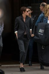 Kristen Stewart Style - Leaving Her Hotel in NYC - October 2014