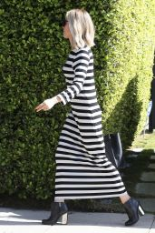 Kristin Cavallari in Striped Dress - Out in West Hollywood, August 2014