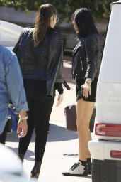 Kylie Jenner and Kendall Jenner Leaving at Geoffrey