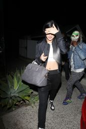 Kylie Jenner - Leaving the Hair Salon in West Hollywood - October 2014