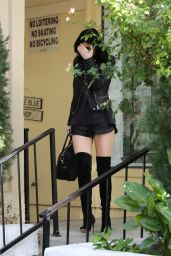 Kylie Jenner Leggy - Out in Calabasas, October 2014