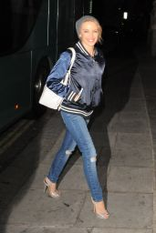 Kylie Minogue in Ripped Jeans - Returning to Her Hotel in London - Oct. 2014
