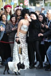 Lady Gaga Style - Leaving Her Hotel in Stockholm, October 2014