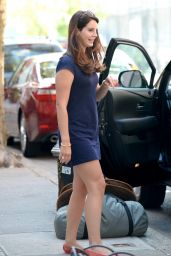 Lana Del Rey in a Blue Mini Dress in New York City - October 2014