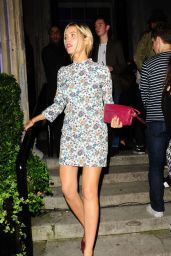 Laura Whitmore Leggy in Mini Dress - Out in London, September 2014